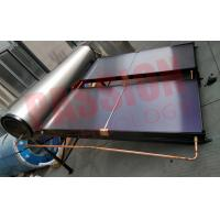 China Compact Pressurized Flat Plate Solar Water Heater Blue Coating Flat Plate Solar Collector for sale