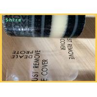 China Acrylic Glue Auto Carpet Protection Film Clear PE Adehsive Carpet Protective Rolls for sale