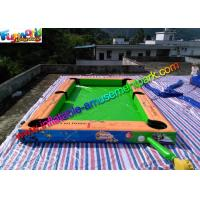 Double Stitch Inflatable Games Rentals Snooker Field With Full Printing for sale