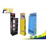 Peg Hook Cardboard POP Displays Free Standing Gloss / Matte Lamination SGS Approval