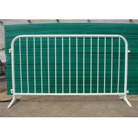 China secure construction 1.1*2.2m galvanized pvc coated  crowd control barrier for traffic road  concert  barrier for sale