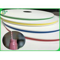 FDA Certificate 13.7mm 14mm 15mm 60gsm 120gsm Printed Straw Paper For Straws