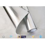 Thermal Insulation Aluminium Foil Singled Side Woven Fiberglass Fabric for sale
