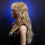 China Natural Hairline Full Lace Human Hair Wigs With Bangs / Wet And Wavy Hair Extensions for sale