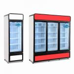 China Fan Cooling 1-2-3 Doors Upright Freezer Showcase For Ice Cream And Seafood for sale