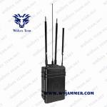 China High Power Quad Band WIFI2.4G/5.8G GPS  Briefcase Drone Signal Jammer for sale