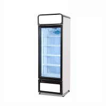 China Supermarket 450L Glass Door Vertical Freezer Showcase for sale