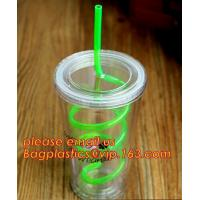 China Colorful neon flexible disposable plastic drinking straw,Colorful Cocktail Paper Plastic Drinking Straw bagplastics pac for sale