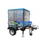 Mobile And Enclosed Transformer Oil Purifier Machine 1800L / H 2 Car Wheels Type for sale