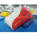 Red Inflatable Iceberg With 2 Sides Climbing For Swimming Pool for sale