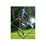 Contemporary High Glossing Mirror Stainless Steel Sculpture Kenitic Wind Sculpture for sale