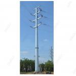 Galvanized Steel Tubular Tower Substation Structure Electrical Transmission Tower