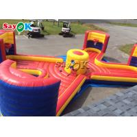 38*14ft Inflatable Sports Games Bungee Run Basketball Toss Game 4 People For Amusement Park for sale