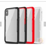 China Armor Glass Mobile Case Cover Tempered For Iphone X Shockproof Red Pink Green for sale