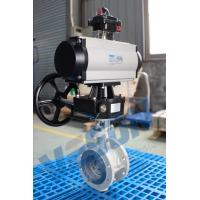 Pneumatic Actuator Operated Butterfly Valve Flanged Type Double Acting / Spring Return for sale
