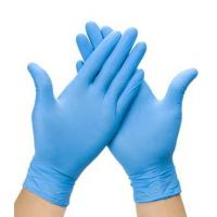 Medical Powder Free Disposable Nitrile Gloves, Blue, Large, Pack of 100 pieces for sale