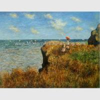 China Claude Monet Oil Reproduction, Cliff Walk At Pourville Oil on Canvas 50 X 70 Cm for sale