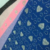 Non Woven Polyester Fabric Clothing  Foile Lurex Felt A4 Size With Custom Design for sale