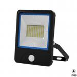 China 120Lm Per Watt Outdoor Integrated LED Flood Light Motion Sensor Energy Saving for sale