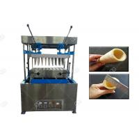 China Pizza Making Ice Cream Cone Machine , Stainless Steel Pizza Cup Moulding Machine for sale