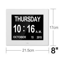 8 Inch Video Brochure Card LED Digital Desk Electronic Perpetual Calendar Alarm Day Clock