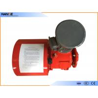 Red Painting Flat Electrical Cable Reeling Drum With Motor , Cable Reel Drum for sale