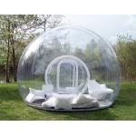 1.0mm PVC Clear Inflatable Bubble Tent / Camping Tent for Family Party 4m Dia