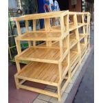 Custom Bread Wooden Retail Display Shelves / Wooden Bakery Display Racks for sale