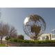 Metal Sculpture Manufacturer Stainless Steel Globe Sculpture for sale