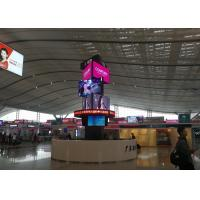 Special design 9 faces spinning outdoor programmable Led video display panel for sale