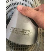 Duplex Butt Weld Fittings / Forged Steel Fittings ASTM A815 UNS S31803 Tee / End Cap 6'' SCH160