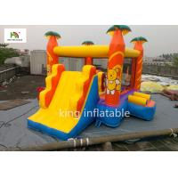 Yellow Cartoon Inflatable Jumping House With Climb Slide Outdoor Entertainment for sale