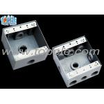 Square Weatherproof Electrical Boxes 3 Hole One Gang Outlet Fitting Accessory for sale