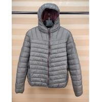 men's basic nylon padded  jacket with fix hoody ,1801M,4 Colours,Contrast color zipper and lining for sale