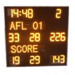 China Aluminum Alloy AFL Scoreboard , Led Football Scoreboard With IP65 Waterproof Cabinet for sale