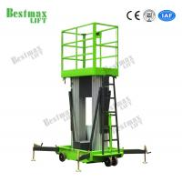 10 Meters Height Aerial Work Platform Double Mast Hydraulic Vertical Lift Table for sale