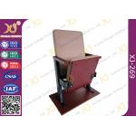 China Slim Polyurethane Sponge Auditorium Chair For University Lecture Hall Or Church Hall for sale