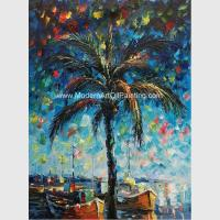 Hand Painted Palette Knife Oil Painting Seascape Gulf of Mexico Wall Art Decoration for sale