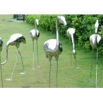 Garden Decoration Stainless Steel Crane Sculpture for sale