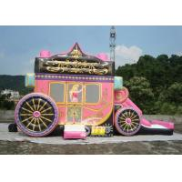 Princess Carriage Inflatable Bouncy Castles With Lead Free PVC Tarpaulin Material for sale