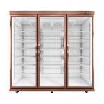 Supermarket Merchandise Front Temper Glass Door Freezer Refrigerator Showcase