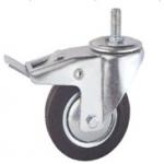 China 5 inch roller ball bearing rubber casters for sale