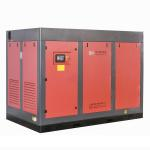 China VSD 110kw High Power Two Stage Screw Compressor For Machinery Processing manufacturer