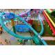 Water Amusement Park Aqua Loop Spiral Tube Fiberglass Water Slide For Adult for sale