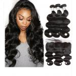 Lace Frontal 100% Unprocessed Malaysian Hair Extensions Natural Wave for sale