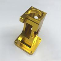 China Golden Anodized 6061 Aluminum Machining Service , Motor CNC Milling Parts for sale