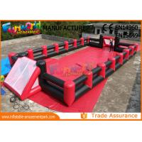 Fireproof Inflatable Soap Football Field With Digital Paiting EN71 for sale