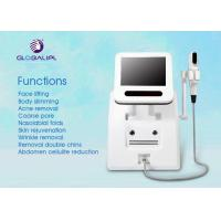 Portable HIFU High Intensity Focused Ultrasound Wrinkle Removal Machine Three Treatment Head for sale