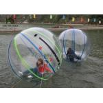 1.0mm PVC 2m Dia Inflatable Walk On Water Ball Colorful Stripe Ball For Rentals for sale