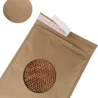 China Easy Recycle Brown Kraft Cover Honeycomb Paper Padded Eco Friendly Biodegradable Mailer for sale